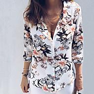 Tynn Skjortekrage Skjorte Dame - Blomstret Grunnleggende