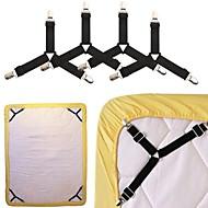 baratos Armazenamento e Organização-4 pcs folhas ficar suspensórios tampa do sofá titular roupa de cama deslizante clipe de retenção suspensórios camisa suspensórios elástico