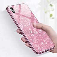billiga Mobil cases & Skärmskydd-fodral Till Apple iPhone X / iPhone 8 Stötsäker / Plätering Skal Marmor Hårt Härdat glas för iPhone X / iPhone 8 Plus / iPhone 8