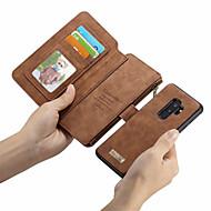 CaseMe Funda Para Samsung Galaxy S9 Plus / S9 Cartera / Soporte de Coche / Flip Funda de Cuerpo Entero Un Color Dura Cuero de PU para S9 / S9 Plus / S8 Plus