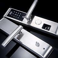 billige Intelligente låser-Factory OEM Rustfritt Stål Intelligent Lås Smart hjemme sikkerhet System Anti peeping passord Hjem / Soveværelse / Leilighet (Lås opp modus Fingeravtrykk / Passord / Mekanisk nøkkel)