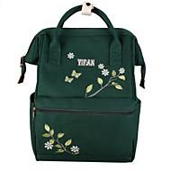 baratos Mochilas-Mulheres Bolsas Tela de pintura mochila Ziper Rosa / Amarelo / Verde Escuro
