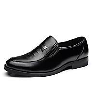baratos Sapatos Masculinos-Homens Sapatos Confortáveis Couro Ecológico Outono Oxfords Preto / Festas & Noite