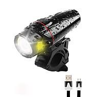 billige Sykkellykter og reflekser-Sykkellykter / Frontlys til sykkel / sikkerhet lys LED Sykkellykter XP-G2 Sykling Vanntett, Bærbar, Fort Frigjøring Li-polymer 350 lm Innebygd Li-batteridrevet Naturlig Hvit Camping / Vandring / ABS