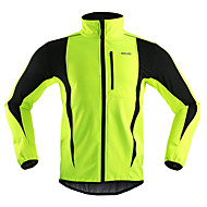 cheap Sports & Outdoor Super Clearance-Arsuxeo Men's Cycling Jacket Bike Jacket / Winter Fleece Jacket / Top Windproof, Thermal / Warm, Breathable Stripe Polyester, Spandex, Fleece Winter Orange / Red / Light Green Road Cycling Relaxed Fit