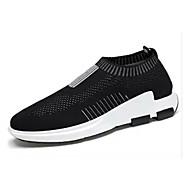 baratos Super Ofertas-Homens Sapatos Confortáveis Com Transparência / Tecido elástico Verão Tênis Caminhada Preto / Cinzento