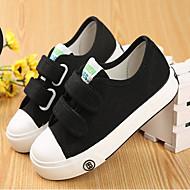 baratos Sapatos de Menino-Para Meninos / Para Meninas Sapatos Lona Primavera & Outono Conforto Tênis Velcro para Infantil / Adolescente Preto / Vermelho / Azul