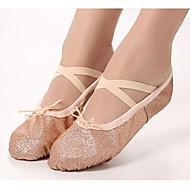 billige Ballettsko-Dame Ballettsko Lerret Joggesko Flat hæl Dansesko Svart / Rosa