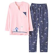 Dame Dyb V Jakkesæt Pyjamas Patchwork