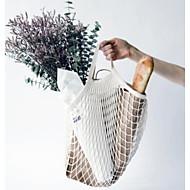 baratos Bolsas Tote-Mulheres Bolsas Algodão Tote Vazados Branco / Preto