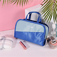 waterdicht Rits Cosmetisch Tasje Polyesteri Dagelijks Rood / Grijs / Hemelsblauw