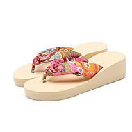 baratos Sapatos Femininos-Mulheres Sapatos Confortáveis Cetim Primavera Sandálias Sem Salto Branco / Preto / Vermelho
