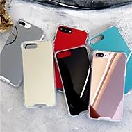 رخيصةأون أغطية أيفون-غطاء من أجل Apple iPhone X / iPhone XS Max ضد الصدمات / مرآة غطاء خلفي لون سادة قاسي أكريليك إلى iPhone XS / iPhone XR / iPhone XS Max
