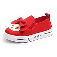 tanie Obuwie chłopięce-Dla chłopców / Dla dziewczynek Obuwie PU Jesień i zima Wygoda Mokasyny i buty wsuwane Kokarda na Dzieci / Brzdąc Biały / Czerwony / Różowy / Guma poliuretanowa