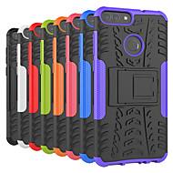 billiga Mobil cases & Skärmskydd-fodral Till Huawei P20 Pro / P20 lite Stötsäker / med stativ Skal Tegel / Rustning Hårt PC för Huawei P20 / Huawei P20 Pro / Huawei P20 lite / P10 Plus / P10 Lite / P10