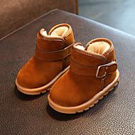 baratos Sapatos de Menina-Para Meninas Sapatos Couro Ecológico Inverno / Outono & inverno Botas de Neve Botas Caminhada Presilha para Infantil / Bébé Preto / Marron / Vinho / Botas Cano Médio