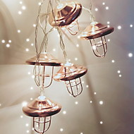 Χαμηλού Κόστους Φώτα LED-1,5 ίντσες Φώτα σε Κορδόνι 10 LEDs Θερμό Λευκό Απίθανο Μπαταρίες AA Powered 1pc