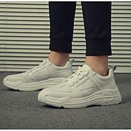 tanie Obuwie męskie-Męskie Komfortowe buty Mikrowłókno Wiosna i lato Casual Adidasy Biały / Czarny