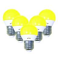 billiga Belysning-EXUP® 5pcs 5 W 450 lm E26 / E27 LED-globlampor G45 12 LED-pärlor SMD 2835 Gulligt / Kreativ / Party Gul 220-240 V / 110-130 V