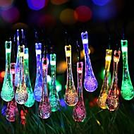 Χαμηλού Κόστους Φώτα LED-6,8 μέτρα Φώτα σε Κορδόνι 40 LEDs Θερμό Λευκό / RGB Ηλιακής Ενέργειας / Χαριτωμένο / Νεό Σχέδιο Încărcare Solară 1set