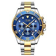 Tevise สำหรับผู้ชาย วิศวกรรมนาฬิกา ญี่ปุ่น ไขลานอัตโนมัติ สแตนเลส เงิน / ทอง 30 m กันน้ำ ปฏิทิน noctilucent ระบบอนาล็อก ความหรูหรา แฟชั่น - สีเขียว ฟ้า