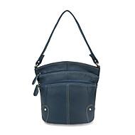 baratos Bolsas Tote-sacos de mulheres napa zipper couro tote vermelho / preto / marrom