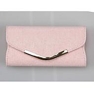 baratos Clutches & Bolsas de Noite-Mulheres Bolsas PU Bolsa de Mão Côr Sólida Dourado / Rosa