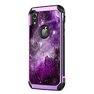 billiga Mobil cases & Skärmskydd-fodral Till Apple iPhone XR / iPhone XS Max Stötsäker / Plätering / Mönster Skal Landskap / Färggradient Hårt PU läder / PC för iPhone XR / iPhone XS Max