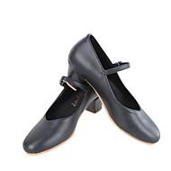 billige Moderne sko-Dame Moderne sko Mikrofiber Høye hæler Kubansk hæl Dansesko Svart