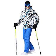 billiga Vintersport-Wild Snow Herr Skidjacka och -byxor Vindtät, Varm, vattenbeständigt Skidåkning / Camping / Multisport Polyester, 100 % bomull Klädesset Skidkläder / Vinter