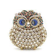 baratos Clutches & Bolsas de Noite-Mulheres Bolsas Liga Bolsa de Mão Detalhes em Cristal / Vazados Animal Preto / Azul Marinho / Prateado