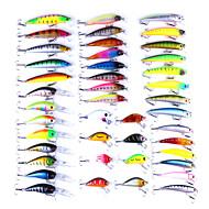 cheap Fishing-43 pcs pcs Hard Bait / Lure kits Hard Bait / Lure Packs Plastic / Metal Bait Casting / Lure Fishing / General Fishing