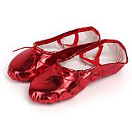 billige Ballettsko-Dame Ballettsko PU Joggesko Flat hæl Dansesko Svart / Rød