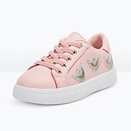 tanie Obuwie dziewczęce-Dla dziewczynek Obuwie PU Wiosna i jesień Wygoda Adidasy Sznurowane na Dzieci Biały / Różowy