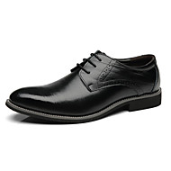 tanie Small Size Shoes-Męskie formalne Buty Mikrowłókno Wiosna Biznes Oksfordki Brązowy / Niebieski / Wino