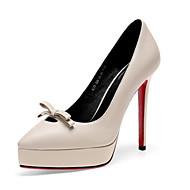 baratos Sapatos Femininos-Mulheres Sapatos Confortáveis Pele Napa Verão Saltos Salto Agulha Preto / Bege / Verde