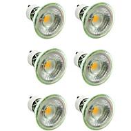 billige Spotlys med LED-6pcs 7 W 500 lm GU10 / MR16 LED-spotpærer 1 LED perler COB Mulighet for demping / Dekorativ Varm hvit / Kjølig hvit 220-240 V