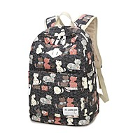 cheap School Bags-Women's Bags Canvas School Bag Pattern / Print Animal Blushing Pink / Gray / Sky Blue