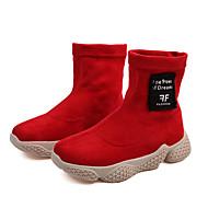 baratos Sapatos de Menina-Para Meninas Sapatos Couro Ecológico Inverno / Outono & inverno Botas da Moda Botas Caminhada Tira Trançada para Infantil / Bébé Preto / Vermelho / Castanho Escuro / Botas Cano Médio