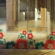 baratos Películas e Adesivos de Janela-Filme de Janelas e Adesivos Decoração Artistíco / Retro Floral PVC Novo Design / Legal