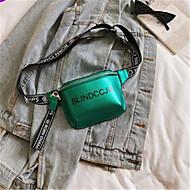 baratos Bolsas de Ombro-Mulheres Bolsas PU Bolsa de Ombro Ziper Roxo / Verde Escuro / Prateado