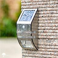 billige Utendørs Lampeskjermer-1pc 0.5w ledet floodlight vanntett / sol / infrarød sensor hvit 4 v utendørs belysning 2 ledede perler