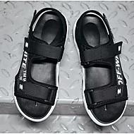 tanie Obuwie męskie-Męskie Komfortowe buty Jeans Lato Sandały Czarny / Czerwony