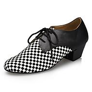 billiga Dansskor-Herr Moderna skor Imitationsläder Sneaker Tvinning Tjock häl Dansskor Svart