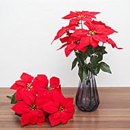 billige Kunstig Blomst-Kunstige blomster 1 Afdeling Klassisk Europæisk Julestjerner Bordblomst