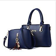Women's Bags PU(Polyurethane) Bag Set 2 Pieces Purse Set Zipper Fuchsia / Wine / Royal Blue