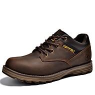 baratos Sapatos Masculinos-Homens Sapatos de couro Pele Napa Outono Vintage / Casual Oxfords À Prova-de-Água Preto / Café / Marron