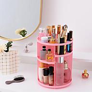 tanie Przechowywanie biżuterii-Przechowywanie Organizacja Kosmetyczny makijaż organizator Plastik Zaokrąglony Wielowarstwowy