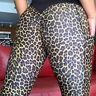 Dame Daglig Sports Legging - Geometrisk / Leopard Medium Talje