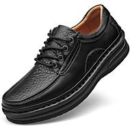 baratos Sapatos de Tamanho Pequeno-Homens Sapatos de couro Pele Napa Outono Clássico / Casual Oxfords Manter Quente Preto / Marron